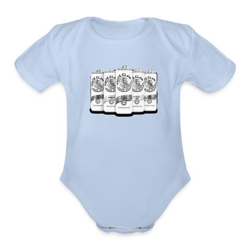 white claw beer - Organic Short Sleeve Baby Bodysuit
