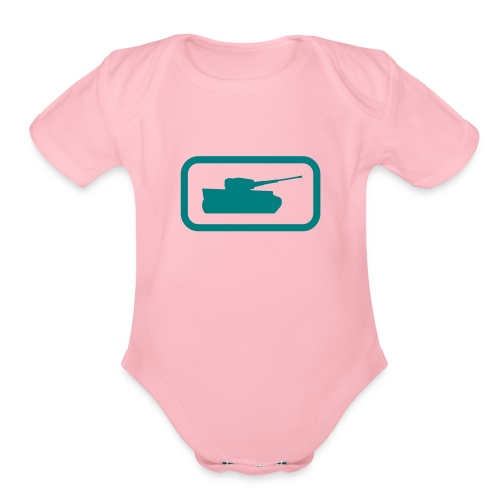 Tank Logo - Multi-Color - Axis & Allies - Organic Short Sleeve Baby Bodysuit