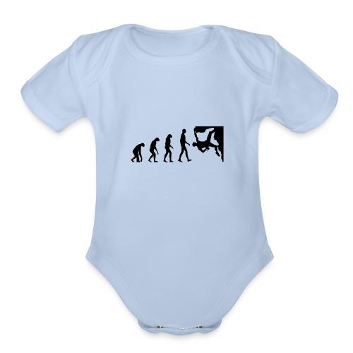Funny Rock Climbing - Organic Short Sleeve Baby Bodysuit
