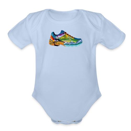 American Hiking x THRU Designs Apparel - Organic Short Sleeve Baby Bodysuit