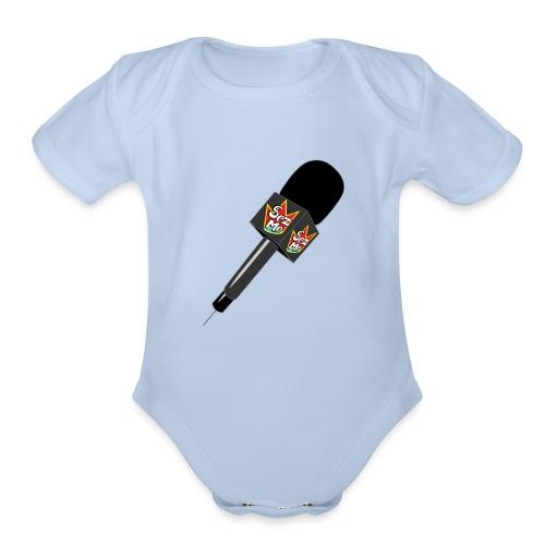 MicrophoneORG Tshirt png - Organic Short Sleeve Baby Bodysuit