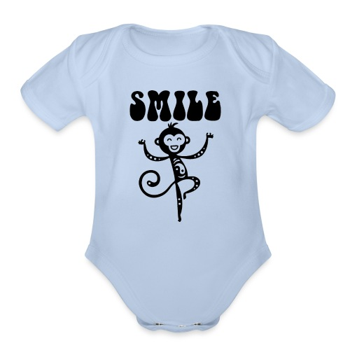 SMILE - Organic Short Sleeve Baby Bodysuit