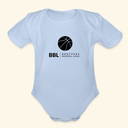Brothers Basketball design - Organic Short Sleeve Baby Bodysuit