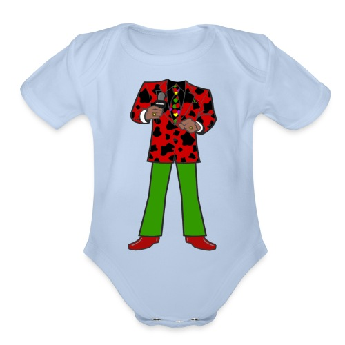 The Red Cow Suit - Organic Short Sleeve Baby Bodysuit