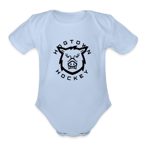 hog t - Organic Short Sleeve Baby Bodysuit