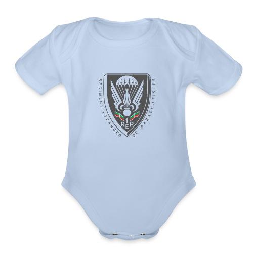 1er REP - Regiment - Badge - Dark - Organic Short Sleeve Baby Bodysuit