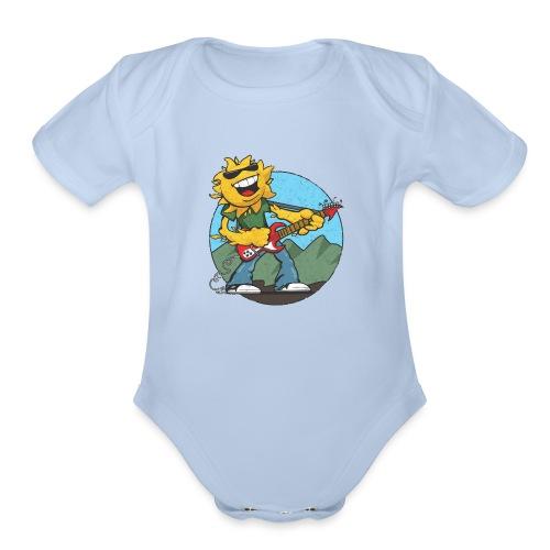 sun guitar rocker v1 t - Organic Short Sleeve Baby Bodysuit