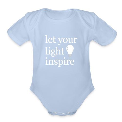 Let Your Light Inspire Mug - Organic Short Sleeve Baby Bodysuit