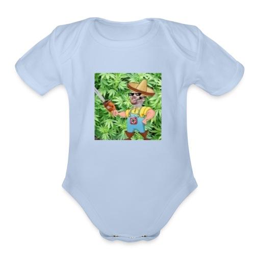 momothefarming - Organic Short Sleeve Baby Bodysuit