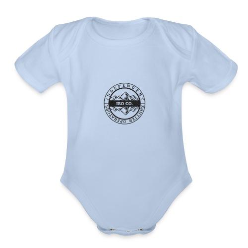 ISO Co. Black Classic Emblem - Organic Short Sleeve Baby Bodysuit
