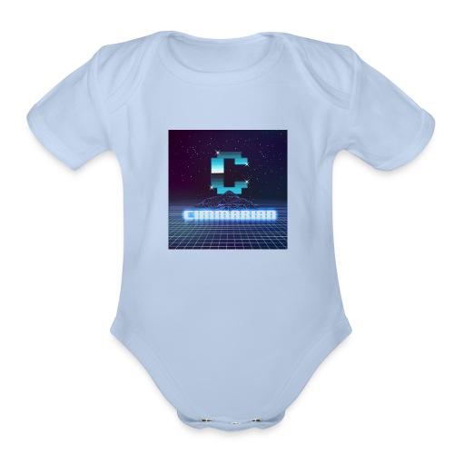 The killer 80s logo - Organic Short Sleeve Baby Bodysuit