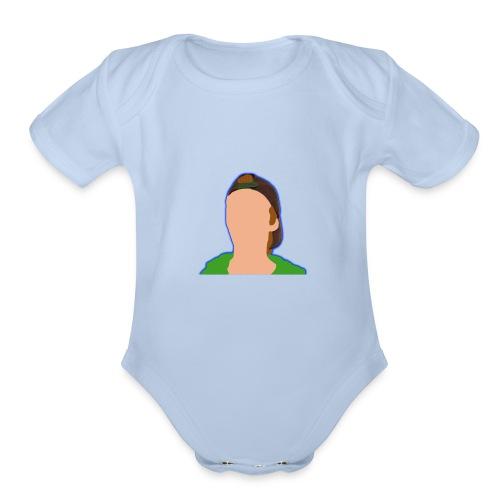 iCanE Cartoon - Organic Short Sleeve Baby Bodysuit