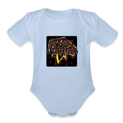 Warcraft Baby: Level 1 Shaman - Organic Short Sleeve Baby Bodysuit