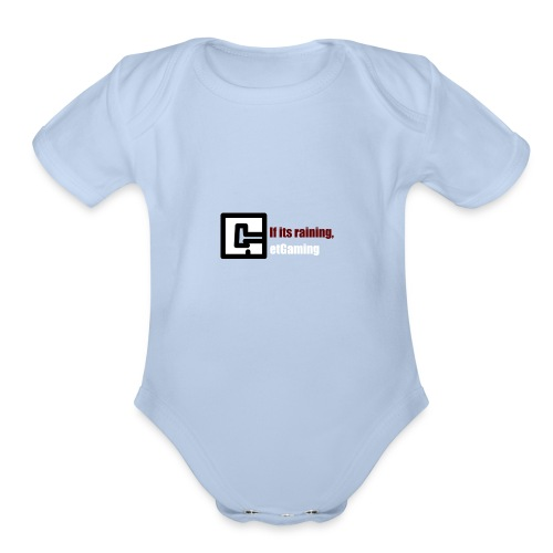 GetGaming or its Raining - Organic Short Sleeve Baby Bodysuit