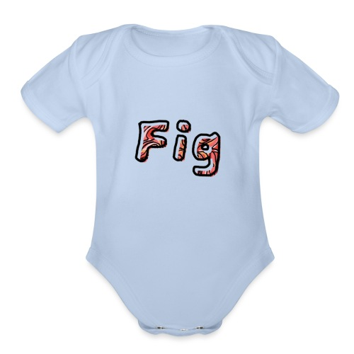 Fig Logo - Organic Short Sleeve Baby Bodysuit