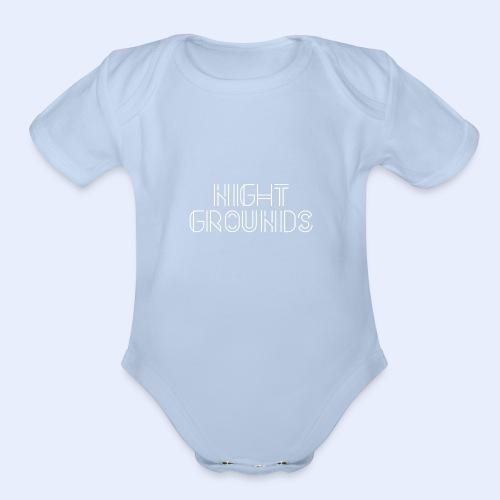 White NightGrounds Title - Organic Short Sleeve Baby Bodysuit