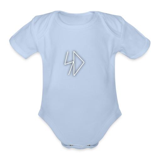 Sid logo white - Organic Short Sleeve Baby Bodysuit