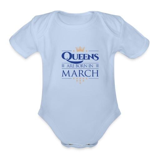Queen of March 02 - Organic Short Sleeve Baby Bodysuit