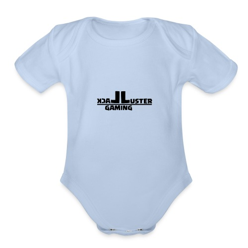 LackLuster Gaming Cut Logo - Organic Short Sleeve Baby Bodysuit