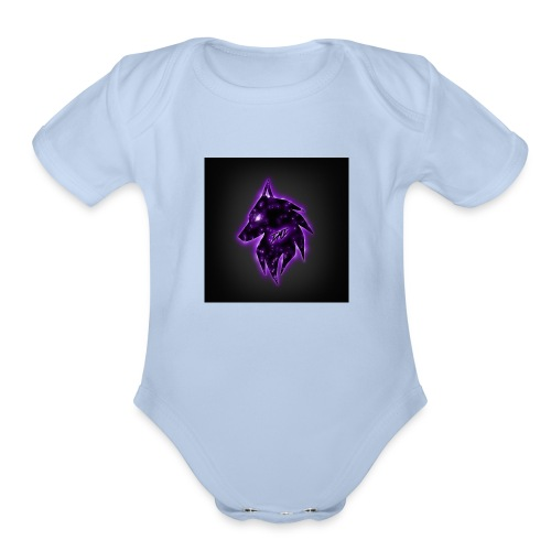 wolf jumper - Organic Short Sleeve Baby Bodysuit