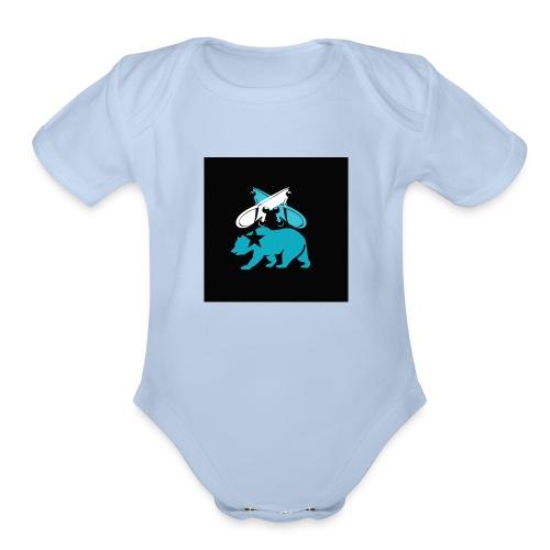skateboard design - Organic Short Sleeve Baby Bodysuit