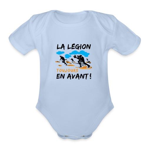 La egion-toujours-en-avan - Organic Short Sleeve Baby Bodysuit