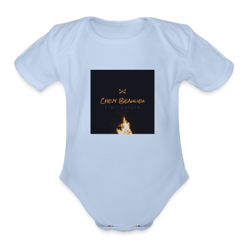 FIRECRACKER by Chevy Beaulieu - Organic Short Sleeve Baby Bodysuit