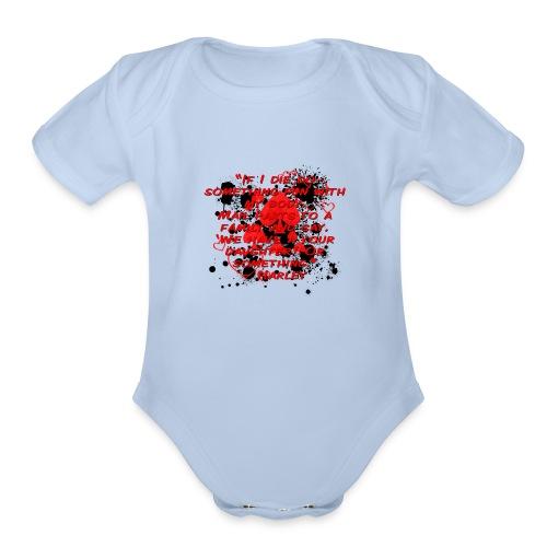 Crazy Joker Girl - Organic Short Sleeve Baby Bodysuit