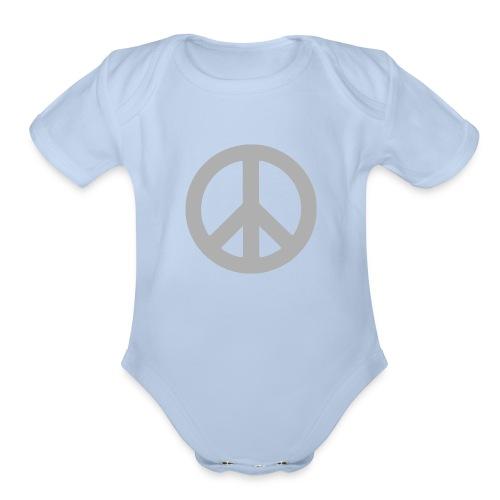 Peace - Organic Short Sleeve Baby Bodysuit