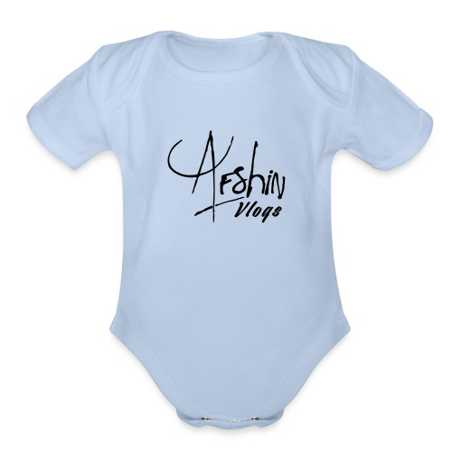 Afshin Vlogs Merchandise - Organic Short Sleeve Baby Bodysuit