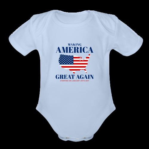 Making America Great Again - Organic Short Sleeve Baby Bodysuit