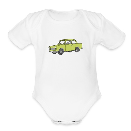 Trabant (baligreen car) - Organic Short Sleeve Baby Bodysuit