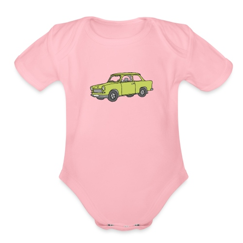 Trabant (baligreen car) - Organic Short Sleeve Baby Bodysuit
