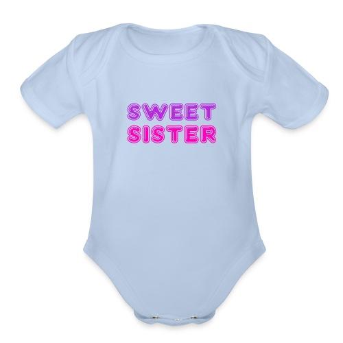 Sweet Sister Disco - Organic Short Sleeve Baby Bodysuit