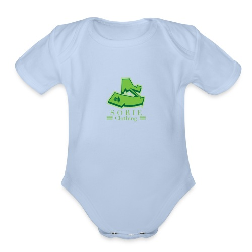 SORIE GREENS - Organic Short Sleeve Baby Bodysuit