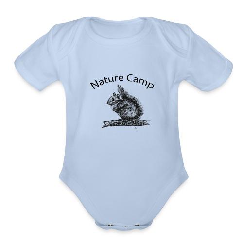 Nature Camp Squirrel - Organic Short Sleeve Baby Bodysuit