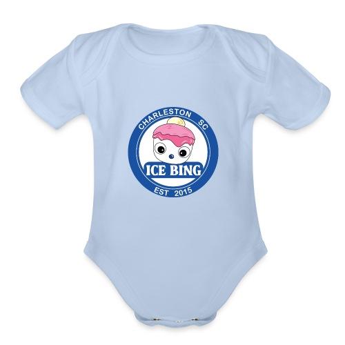 ICEBING002 - Organic Short Sleeve Baby Bodysuit
