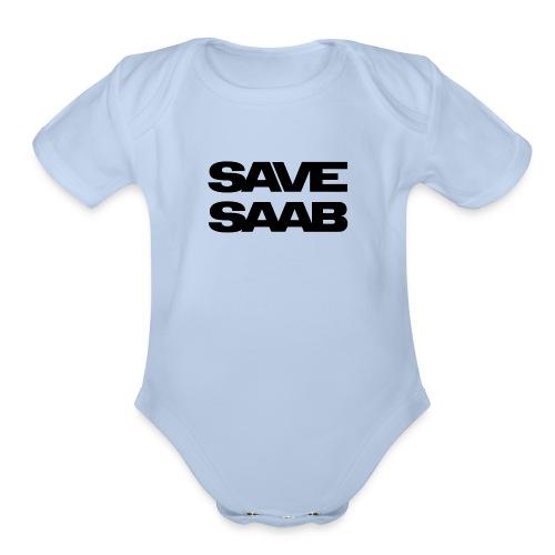 Saab logo products - Organic Short Sleeve Baby Bodysuit