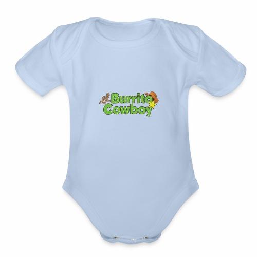 El Burrito Cowboy LOGO - Organic Short Sleeve Baby Bodysuit