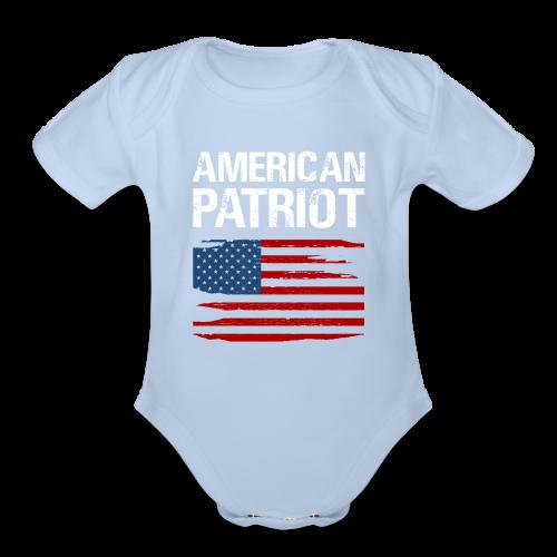 Patriotic American - Organic Short Sleeve Baby Bodysuit