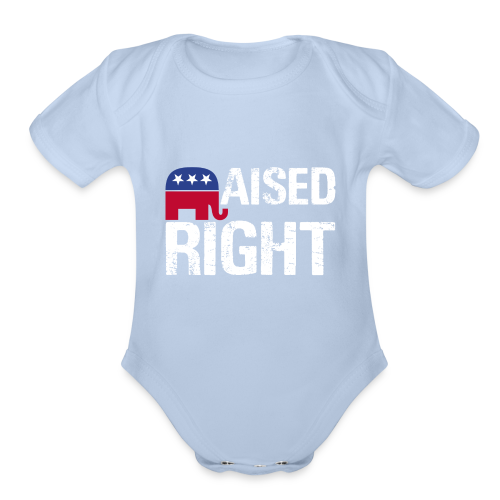 Raised Right - Organic Short Sleeve Baby Bodysuit