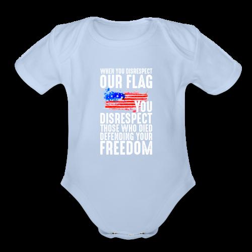 Respect The Flag 01 - Organic Short Sleeve Baby Bodysuit