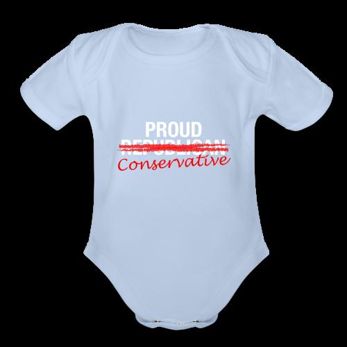 Proud Conservative - Organic Short Sleeve Baby Bodysuit