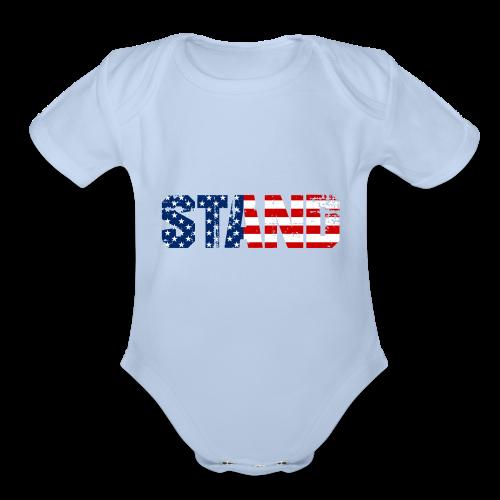 STAND - Organic Short Sleeve Baby Bodysuit