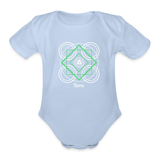 Terra Earth Element Alchemy Design - Organic Short Sleeve Baby Bodysuit