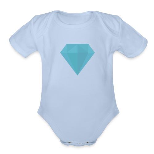Baby Diamond suit - Organic Short Sleeve Baby Bodysuit