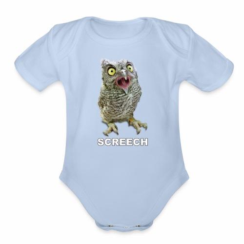Screech Owl Patient at WildCare - Organic Short Sleeve Baby Bodysuit