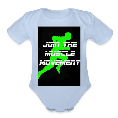 muscle movement - Organic Short Sleeve Baby Bodysuit