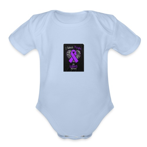 Lupus warrior - Organic Short Sleeve Baby Bodysuit
