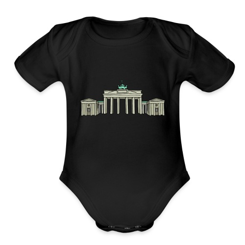Brandenburg Gate Berlin - Organic Short Sleeve Baby Bodysuit